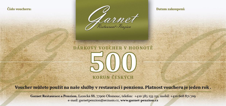 Restaurace Garnet - poukázka
