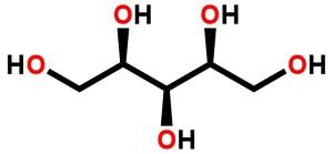 Chemický vzorec Xylitolu