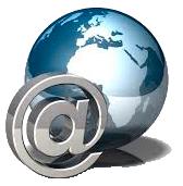 Logo zeměkoule se zavináčem