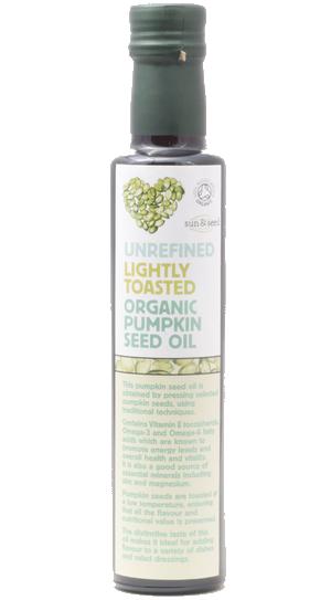 Olej z lehce opečených dýňových semínek