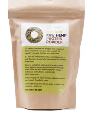 Raw proteinový prášek z konopných semínek