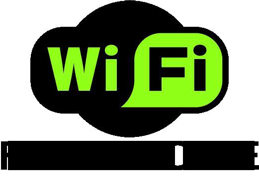 Logo wifi free zone