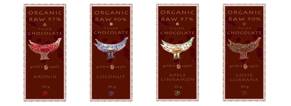 Bio raw čokolády