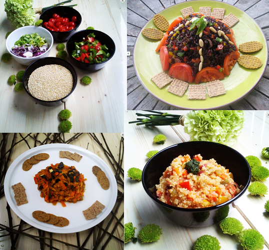 Mozaika se zdravou stravou