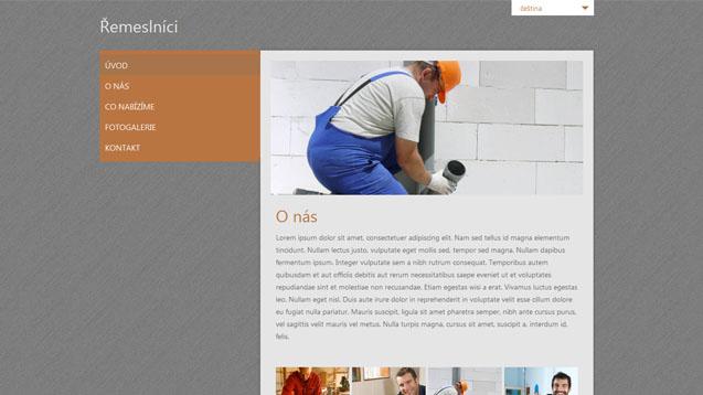 Řemeslníci oranžová šablona číslo 239