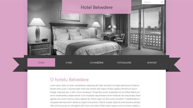 Hotel Belvedere růžová šablona číslo 262