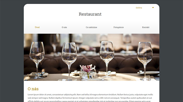 Restaurant tmavě žlutá šablona číslo 597