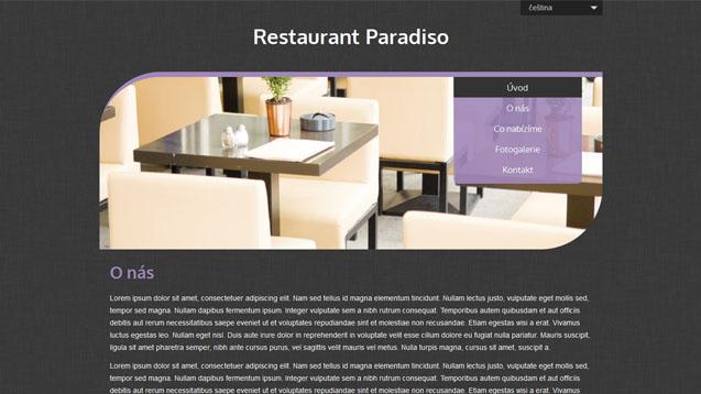 Restaurace fialová šablona číslo 515