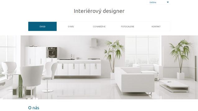 Interierový designer tmavě modrá šablona číslo 560