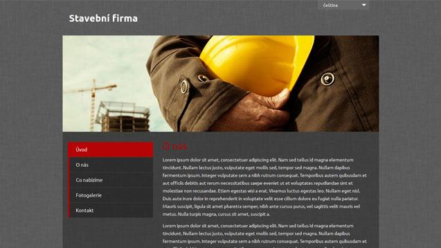 Stavební firma tmavě červená šablona číslo 495