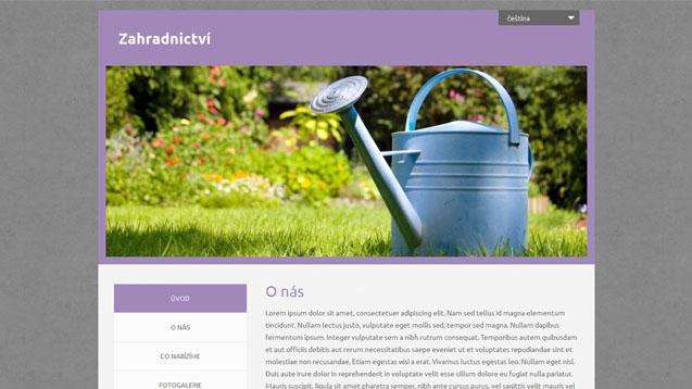 Zahradnictví fialová šablona číslo 555