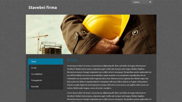 Stavební firma tmavě modrá šablona číslo 494