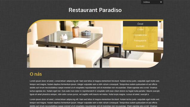 Restaurace žlutá šablona číslo 509