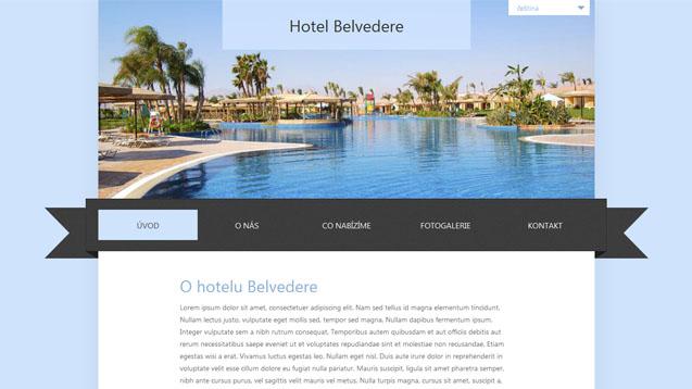 Hotel Belvedere modrá šablona číslo 232