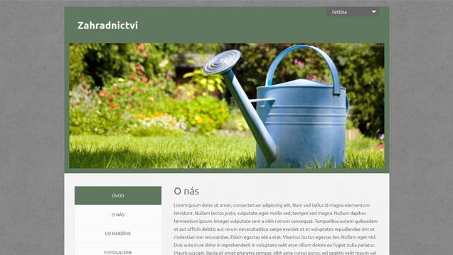 Zahradnictví tmavě zelená šablona číslo 545