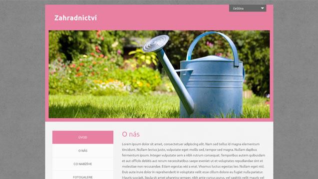 Zahradnictví růžová šablona číslo 550