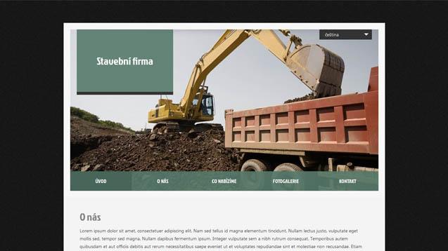 Stavební firma tmavě zelená šablona číslo 408