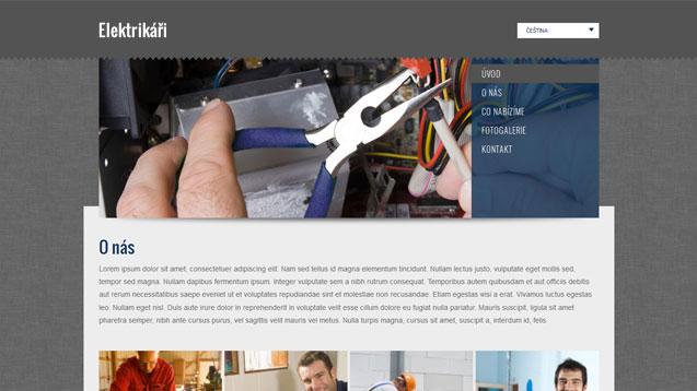 Webmium šablona elektrikáři