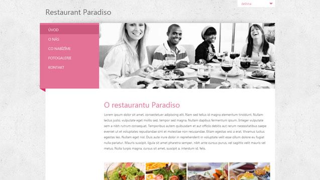 Restaurace růžová šablona číslo 283
