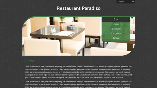 Restaurace tmavě zelená šablona číslo 506
