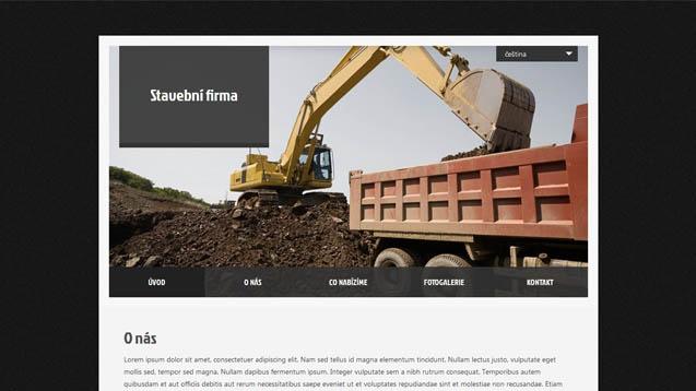 Stavební firma černá šablona číslo 411
