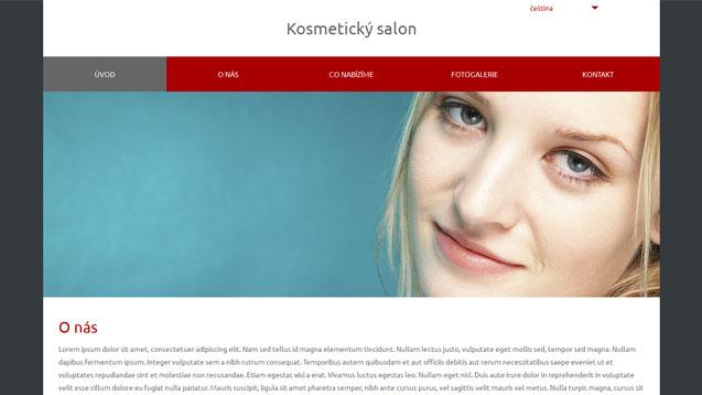 Kosmetický salon tmavě červená šablona číslo 574