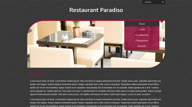 Restaurace tmavě červená šablona číslo 508
