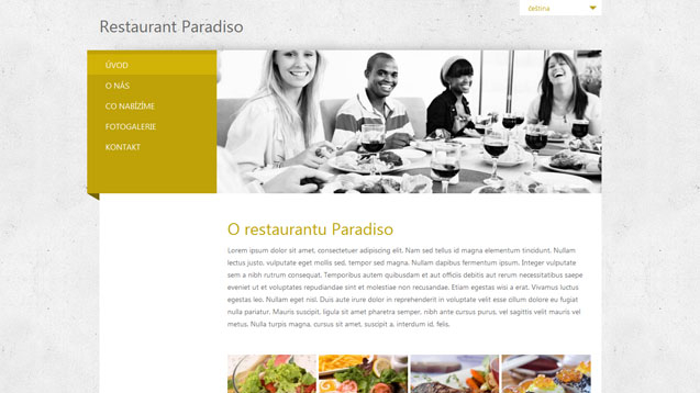 Restaurace žlutá šablona číslo 282