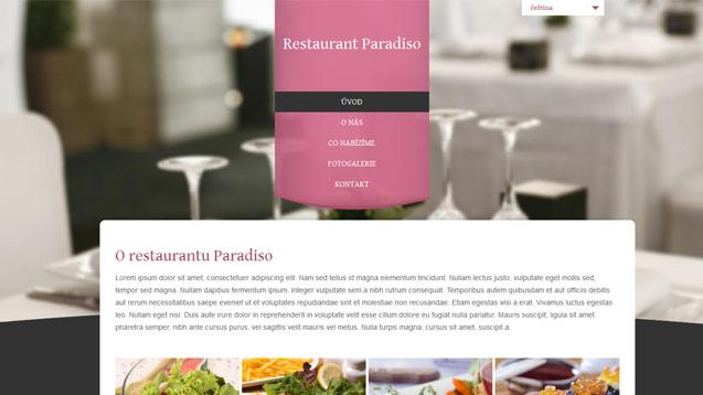 Restaurace růžová šablona číslo 304