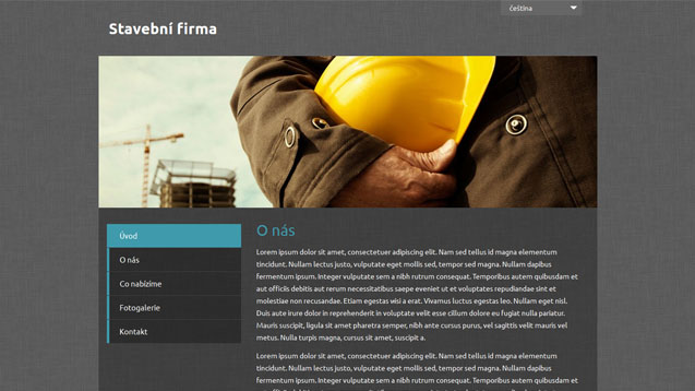 Stavební firma tyrkysová šablona číslo 498