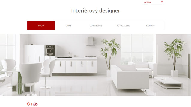 Interierový designer tmavě červená šablona číslo 561