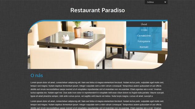 Restaurace modrá šablona číslo 513