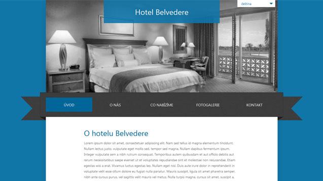Hotel Belvedere tmavě modrá šablona číslo 259