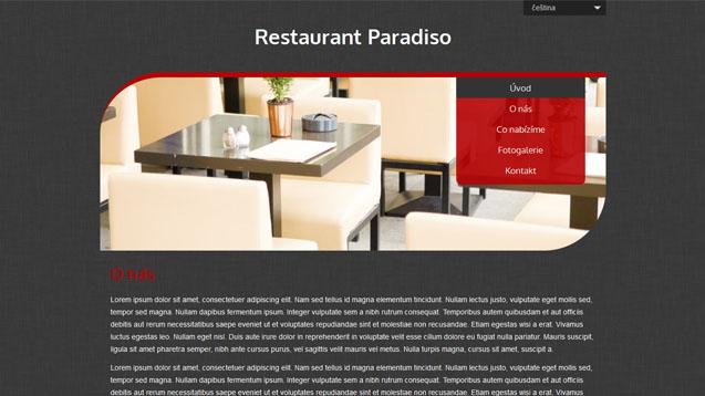 Restaurace červená šablona číslo 512