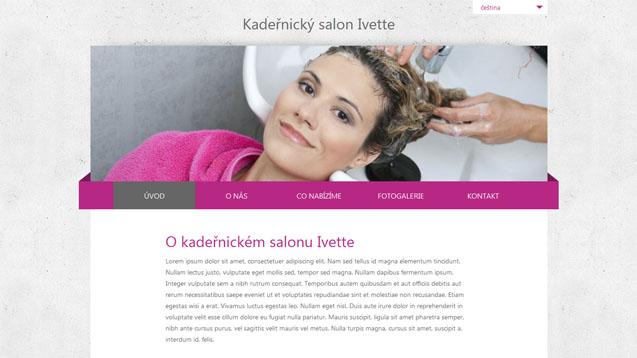Kadeřnický salon Ivette růžová šablona číslo 227