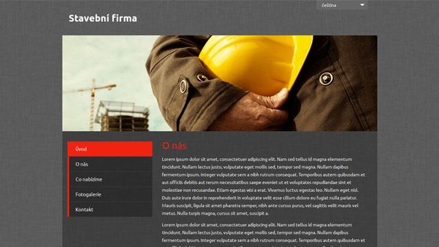 Stavební firma červená šablona číslo 499