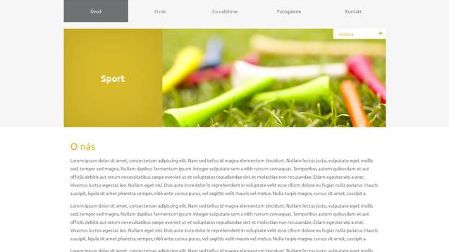 Sport žlutá šablona číslo 614
