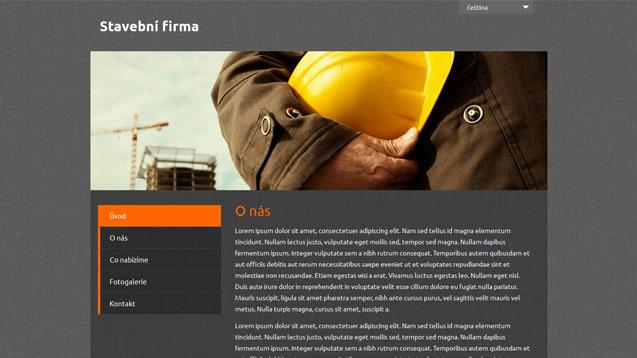 Stavební firma oranžová šablona číslo 501