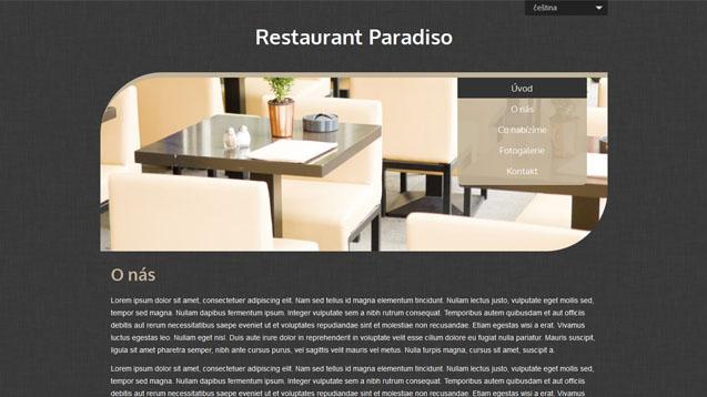 Restaurace béžová šablona číslo 516
