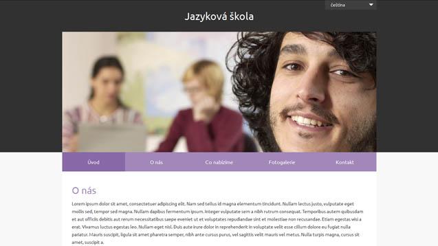 Jazyková škola fialová šablona číslo 633