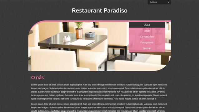 Restaurace růžová šablona číslo 510