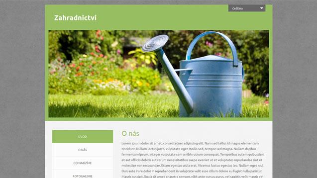 Zahradnictví zelená šablona číslo 543