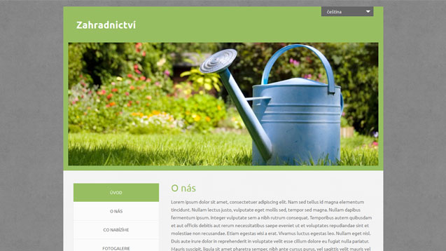 webmium šablona zahradnictví
