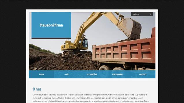 Stavební firma modrá šablona číslo 416