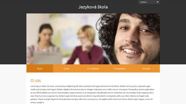 Jazyková škola oranžová šablona číslo 632
