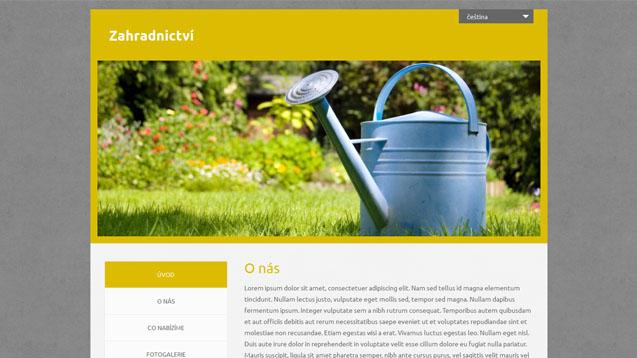 Zahradnictví žlutá šablona číslo 549