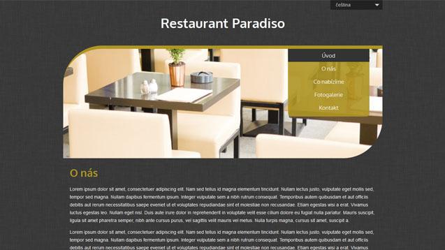 Restaurace tmavě žlutá šablona číslo 505