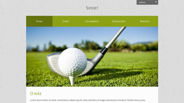 Sport zelená šablona číslo 517