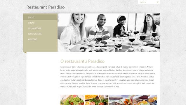 Restaurace béžová šablona číslo 285