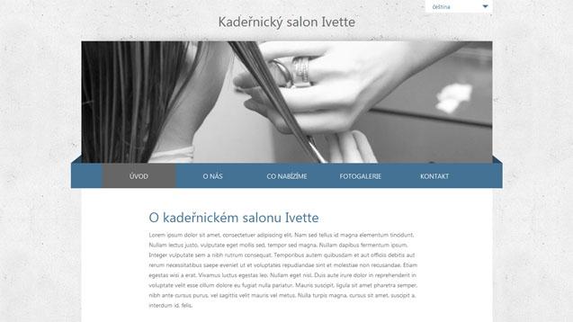 Kadeřnický salon Ivette modrá šablona číslo 255